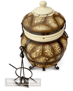 ТАНДЫР модель №5 Римский (дизайн дикий камень/булыжник)